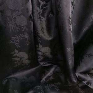 Jacquard negru cu model discret