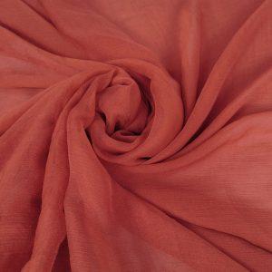 Voal creponat red blush peliculizat din matase naturala