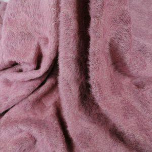 Stofa pufoasa roz lila cu model