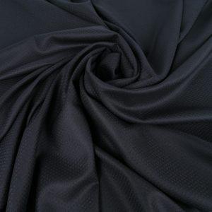 Stofa neagra cu model discret din lana 100%