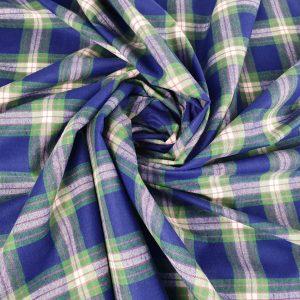 Tartan subtire albastru & verde