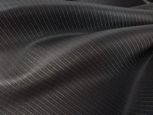Stofita neagra matase cu insertii de lurex