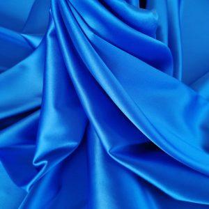 Matase naturala uni albastru royal