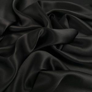 Matase naturala 100% neagra uni fara elastan