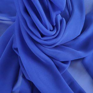 Voal chiffon albastru royal