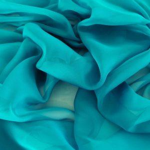 Voal chiffon turquoise marin