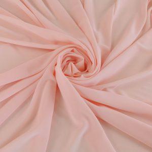 Voal Georgette peach roze din matase naturala