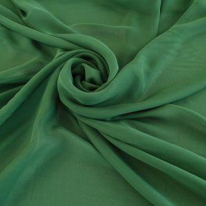 Voal Georgette verde din matase naturala