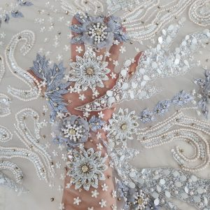 Broderie Pearly Blue