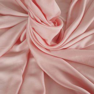 Tesatura peach roze din matase naturala si bumbac