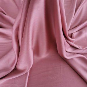 Tesatura roz plamaniu din matase naturala si bumbac