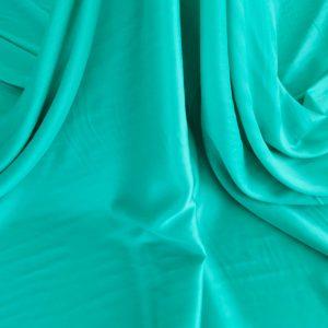 Tesatura turquoise din matase naturala si bumbac