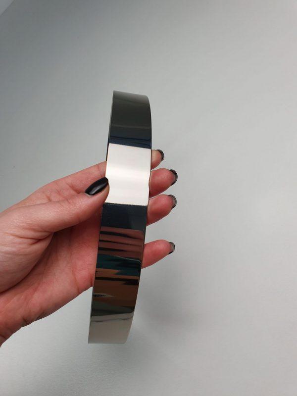 ACS19 - Curea argintie metalica