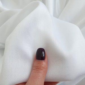 Tesatura alb optic din matase naturala si bumbac