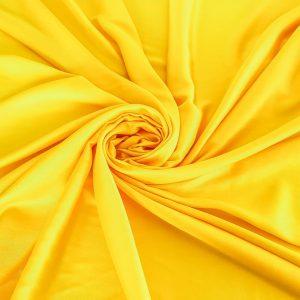 Tesatura vibrant yellow din matase naturala si bumbac