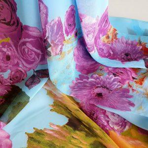 Voal imprimat multicolor EVY01