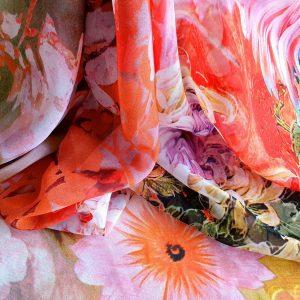 Voal imprimat multicolor EVY06