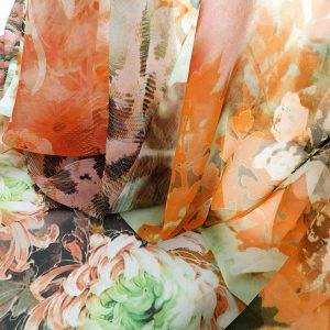 Voal imprimat multicolor EVY04