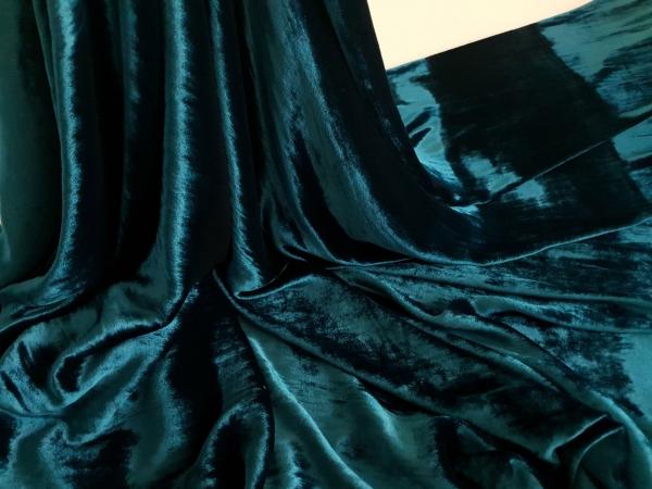 Catifea turquoise inchis matase naturala 100%