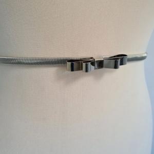 ACS07 - Curea elastica argintie