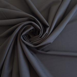 Crep negru din matase naturala si lana cu elastan