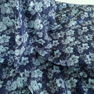 Brocard navy&turquoise cu lurex
