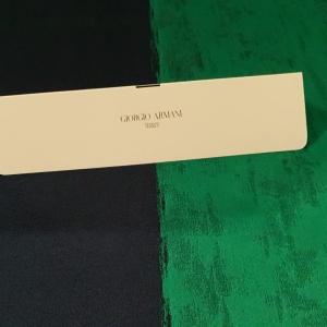 Brocard verde&bleumarin cu matase ARM375