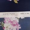 Satin din matase naturala cu print floral FRG302
