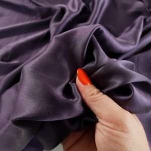 Matase naturala purple cu elastan