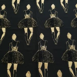 Brocard negru cu balerine PINKO225