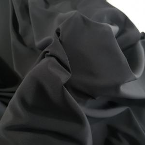 Crepe de Chine negru din matase naturala
