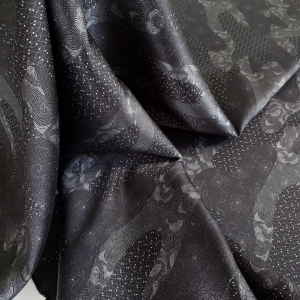 Jacquard negru cu vascoza ARM378