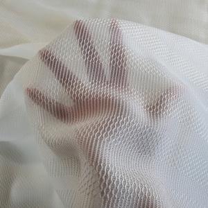 Organza ivory din matase brodata cu lana BYB224