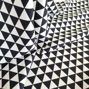 Stofita triunghiuri alb&negru VAL366