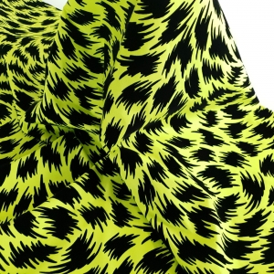 Jacquard galben neon cu insertii de catifea TOM.F395