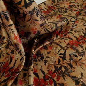 Imprimeu floral pe testura din lana&matase CEL311