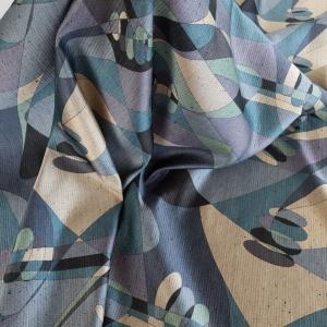 Tesatura lana&matase cu imprimeu abstract CEL310