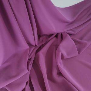 Voal Georgette dusty purple din matase naturala
