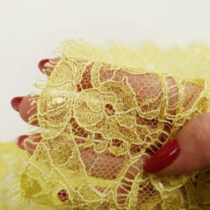 Bordura lemon yellow din dantela frantuzeasca