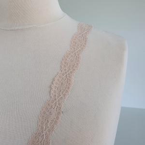 Bordura roz pudra din dantela