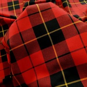 Tartan red&black cu bumbac