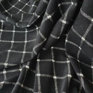 Stofa black&grey din lana 100%