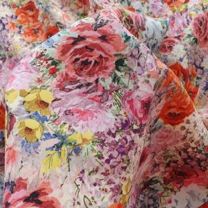 VAL494 Stofita multicolora cu imprimeu floral