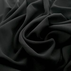 Crep negru din lana cu elastan