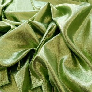HER536 Pistachio green metallic silk