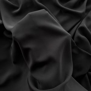 Crepe de Chine negru din matase naturala 100%