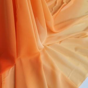 Voal georgette in degrade Orange Dreams