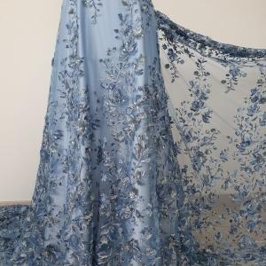 Broderie Blue Dreams cu motive florale