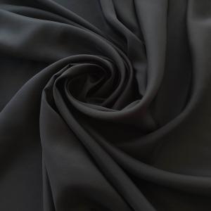 Matase naturala mata negru grafit fara elastan