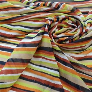 Voal Georgette Colorful Stripes cu matase